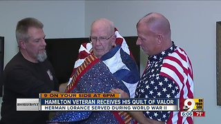Homefront: Veteran receives quilt of valor