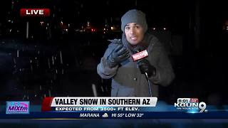Rain, hail and snow hit Southern Arizona - Video