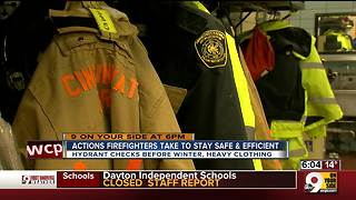 How firefighters stay warm in freezing temps - Video
