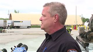 1 person injured in propane explosion at a Parma business - Video