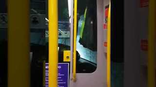 Woman Misses Stop, Wakes Up Inside Tram Wash - Video