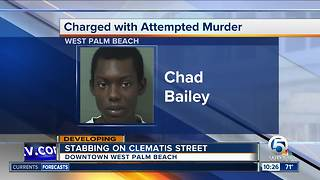 Clematis stabber charged with attempted murder - Video