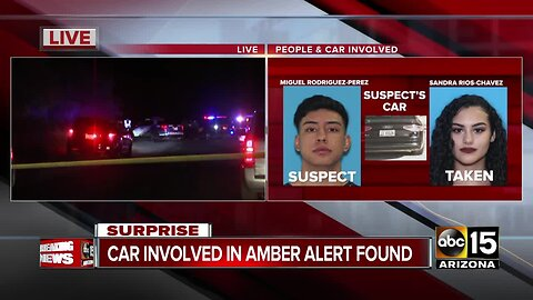 Authorities: Idaho AMBER Alert suspect stopped in Surprise, search underway