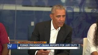 Ex-President Barack Obama expected in Chicago for jury duty - Video