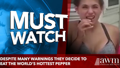 Despite Many Warnings They Decide To Eat The World's Hottest Pepper, Ends Worse Than Expected