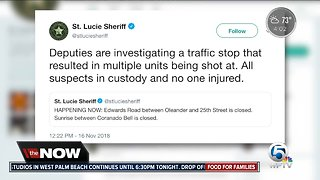 St. Lucie Co. deputies shot at during traffic stop