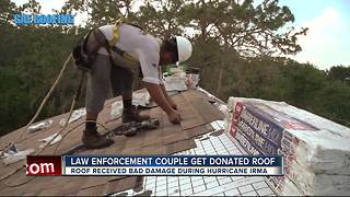 Fla. police officer gets free new roof after Hurricane Irma - Video