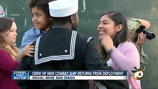 crew of new combat ship returns home from deployment