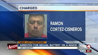 Man arrested for sexual battery on a minor