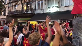 Belgium Fans Celebrate in Brussels After World Cup Quarter-Final Win Over Brazil - Video