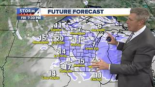 Scattered flurries and cold Thursday morning - Video