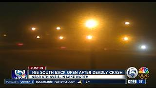 1 person killed in Interstate 95 crash in Lake Worth - Video