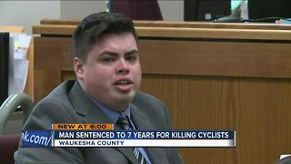 Man sentenced to 7 years for killing cyclists - Video