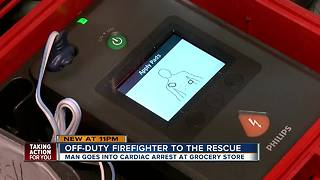 Off-duty firefighter saves man in cardiac arrest at Tarpon Springs Publix - Video