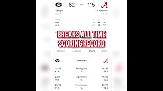 ALABAMA BREAKS GAME SCORING RECORD