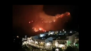 Wildfire Rages in Gran Canaria