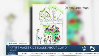 Artist makes kids books about COVID