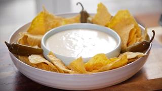 Nachos with Homemade Cheese Dip - Video