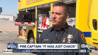 Fire captain recounts getting call to shooting scene - Video