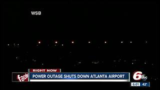 Multiple Indianapolis flights delayed because of power outage at Atlanta airport - Video