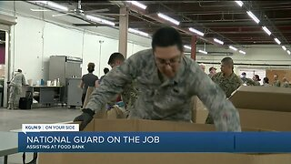 COVID-19 National Guard pitches in at Food Bank