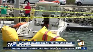 Canceled beach dredging hurting businesses - Video