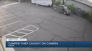 Camper thief caught on camera