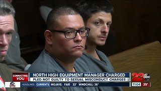 North High equipment manager pleas not guilty to sexual misconduct charges