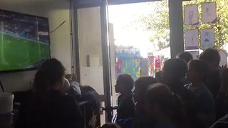 Uruguayan Schoolkids Go Viral After Going Wild for World Cup Win - Video