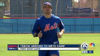 Tim Tebow Reports For Year 2 - Video