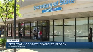 Michigan Secretary of State branches reopen by appointment only