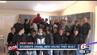 Wayne Township students unveil new house they built in Drexel Gardens - Video