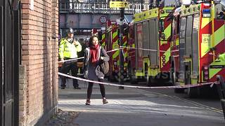 Aftermath of Parsons Green explosion on tube - Video