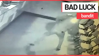 World's dumbest criminal knocks himself out with his own weapon