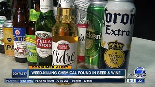 Report: Weed-killing chemical found in beer & wine
