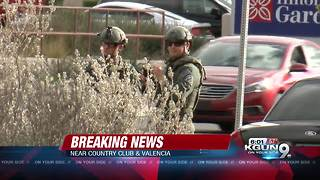 One suspect in custody, one still outstanding in shooting near Tucson airport - Video