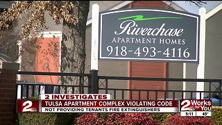 South Tulsa apartment complex violating fire code