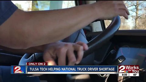 Tulsa Tech helping national truck driver shortage