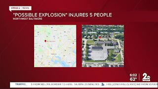 5 people injured in possible explosion