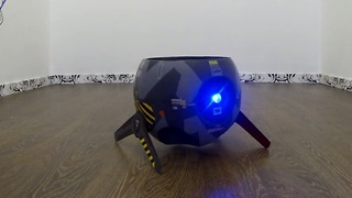 Homemade flying drone-ball invented in Russia - Video