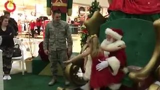 Girl asks Santa to bring military father home; He delivers! - Video