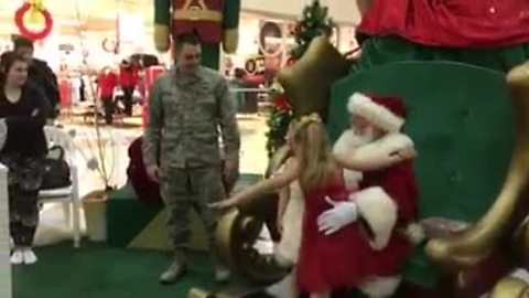 Girl asks Santa to bring military father home; He delivers!