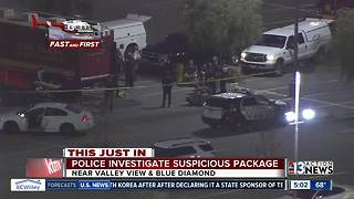 Police investigating suspicious package - Video