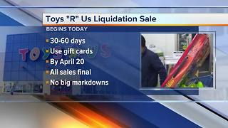 What you need to know about Toys 'R' Us liquidation sale - Video