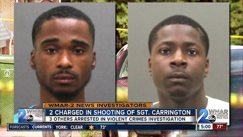 Two arrested for August shooting of BPD Sergeant Isaac Carrington