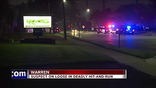 Police looking for suspect in deadly Warren hit-and-run