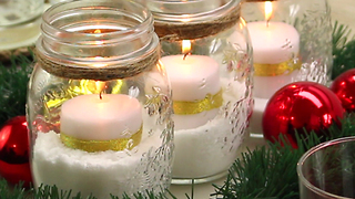 DIY Mason jar and candle centerpiece - Video