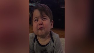 Tot Boy Gets Emotional Listening To His Mom's Singing - Video