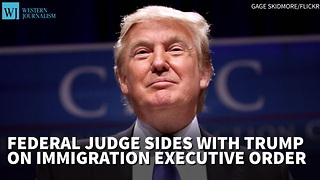 Federal Judge Sides With Trump On Immigration Executive Order - Video
