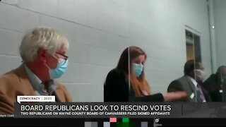 SOS: No legal mechanism for GOP Wayne County canvassers to rescind votes